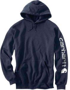 9cd6751e241 Carhartt Men s Big-Tall Midweight Signature Sleeve Logo Hooded Sweatshirt -  Listing price   52.00