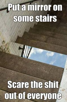 Mindfuck or an upskirt...either way, stairs win.