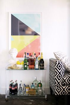 one kings lane lucite bar cart | matchbook magazine