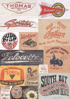 Mens Collections: Vintage Biker Graphics