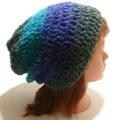 Crochet Fuzzy Ombre Teal Blue Purple Green by AddSomeStitches #HEPteam