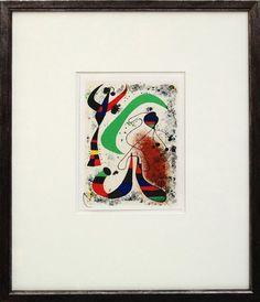 JOAN MIRO - 'Night' - hand signed vintage lithograph - c1972 - custom framed (Mourlot, Paris)