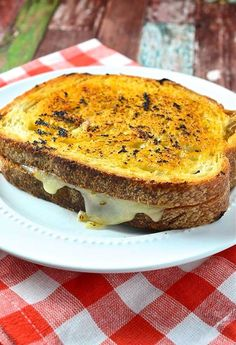 BBQ Chicken Grilled Cheese Sandwich   recipe from Oh, Sweet Basil