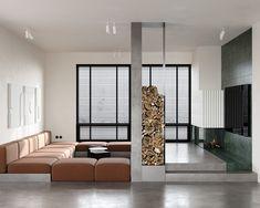 Chernichny on Behance Ikea Living Room, Living Room Lounge, Living Room Interior, Living Rooms, Modern Interior Design, Interior Architecture, Contemporary Design, Home Room Design, House Design