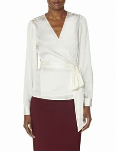 Silky Wrap Blouse from THELIMITED.com