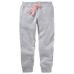 Girls 4-12 OshKosh B'gosh® Solid Knit Pants, Size: 6X, Light Grey