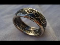 How to Contrast a Silver Coin Ring - Patina Finish - YouTube