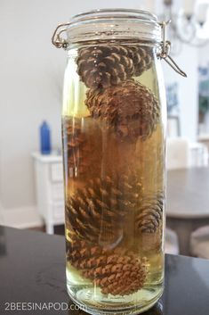 How to Bleach Pinecones - 2 Bees in a Pod Pine Cone Art, Pine Cone Crafts, Pine Cones, Pinecone Ornaments, Christmas Tree Ornaments, Christmas Decorations, Nature Crafts, Fall Crafts, Handmade Christmas