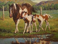 Horse painting by Jack Koonce