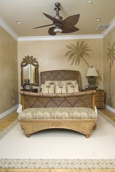 Palm tree themed bedrooms on pinterest palm trees for Tropical themed kitchen