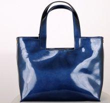 Piękna niebieska skórzana torebka damska tylko w sklepie LA MOD: http://lamod.pl/k50,akcesoria-torebki-skorzane.html