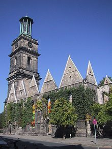 The Aegidienkirche was not rebuilt and its ruins were kept as a WWII memorial.  Hannover