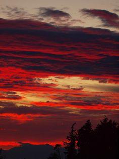 Tacoma Sunset, Washington - Red sky at night, sailor's delight.