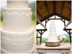 Here's another beautiful photo of the wedding cake we made for Bailey & Jonathan's wedding.Chattanooga Outdoor Wedding Venue Debarge Winery Wedding | Moncrief Photography