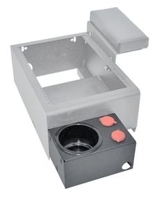 Buy Single cup holder with 12V outlets - For 2011-2013 Chevy Caprice. For more information, visit at majorpolicesupply.com