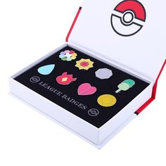 Pokemon Badges Collection - Gym Badges with Case - AnimeBling - 2