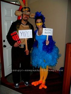 Fun Wile E Coyote and Roadrunner Couples Costume... This website is the Pinterest of costumes