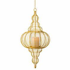LANTERNE ARABESQUE EN METAL : Grande lanterne en arabesque fait de métal.