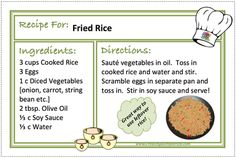 FRIED RICE Recipes - CREATING A SIMPLER LIFE