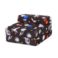 Ready Steady Bed® Galaxy Design Children's Fold Out Single Z Bed Chair: Amazon.co.uk: Kitchen & Home