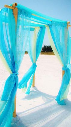 #Caribbean blue beach wedding # aqua beach wedding