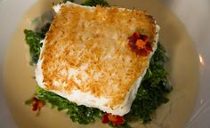 Pan Seared Coconut Crusted Halibut Recipe from  a delicious restaurant in SFO... farm to table type place.