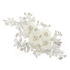 Hottest Crystal/Artificial Silk Flowers & Feathers (042055987)