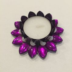 Purple Diya/Tea Candle Holder