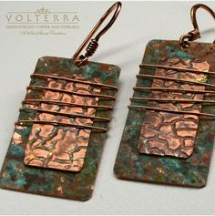 Handmade Rustic Copper Earrings by SunStones on Etsy, $28.00
