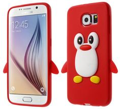 Cartoon Cute 3D Penguin Silicone Case For Samsung Galaxy S6 G920 Cover For Samsung S6 Mobile Phone Bags Phone Cases Accessories