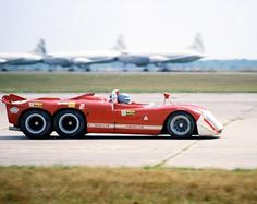 The Alfa Romeo T33/6/12, A nearly unknown, one-off, six-wheel, V12 Alfa race car, it was stolen from Sebring international circuit at night by teenagers. It was recovered 2 weeks after... With a missing engine.
