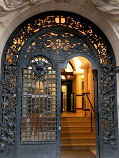 Wrought Iron Door in Paris~61 Rue De Archives