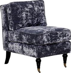 The Gandhi velvet accent chair imparts an exotic feel to your contemporary home. Unwind with some quiet meditation, flip through a magazine, or write those thank you notes you've been putting off. This unique armless slipper chair features buttery soft velvet, a high density foam padded seat, and front wheeled turned solid oak legs to provide elegance without sacrificing comfort.
