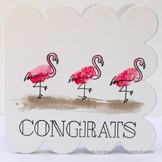 Layers of ink - Flamingo Watercolor Card Tutorial by Anna-Karin. SSS Simon Says Stamp Fingerprint Doodles Fingerprint Art, Simon Says Stamp Blog, Thumb Prints, Art Journal Pages, Junk Journal, Finger Painting, Animal Cards, Watercolor Cards, Kids Cards