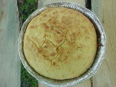 Cornbread:  aluminum pie tin  1 cup corn meal  3 tsp baking powder  2 cup flour  1 egg  1/2 cup sugar  1/2 cup shortening  1 cup milk  Notes:	side dish  Instructions:	Preheat dutch oven to 350 degrees.  Combine dry ingredients.  Mix in shortening and egg.  Mix in small amounts of milk until it becomes a batter.  Pour into pie tin.  Bake about 20 minutes, until toothpick inserted in center comes out clean.