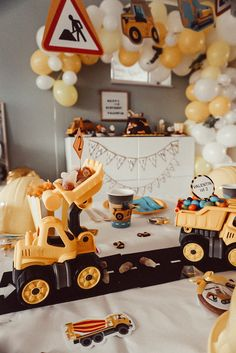 Boys First Birthday Party Ideas, 2nd Birthday Party Themes, Cars Birthday Parties, Birthday Party Decorations, 3rd Birthday, Construction Birthday Parties, Construction Party, Picnic Themed Parties, Birthdays
