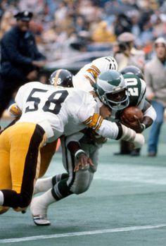 Steelers Football, Pittsburgh Steelers, Football Players, Steelers Stuff, Jack Lambert, Football Pictures, Tough Guy, Running Back, Great Team