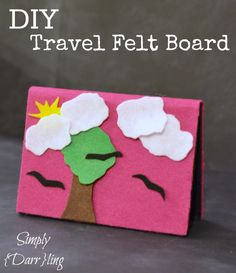 DIY Travel Felt Board.  Probably would be great for that hour and a half in the car each morning too.