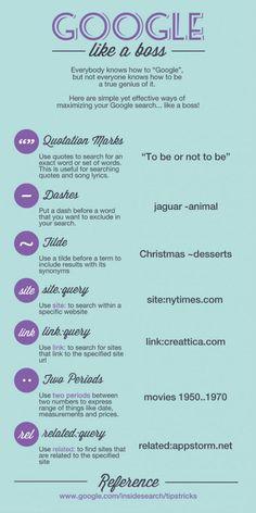 Google like a boss - great tips