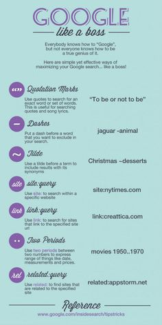 Google like a boss - great tips