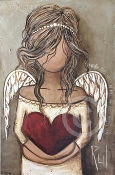 Angel holding heart                                                                                                                                                                                 More