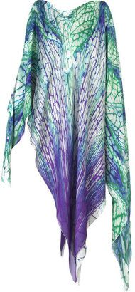 ShopStyle: Roberto Cavalli Keywest silk kaftan