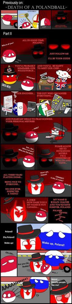"""Death of a Polandball - Part II"" (Poland, Vatican, Russia, UK, Italy, Germaney, Switzerland, France, Canada) #polandball #countryball #flagball"