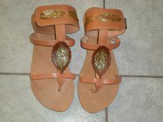Sandals: Leaf (Brown)