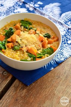 Thermomix Pumpkin and Spinach Risotto. Be still my carb loving heart. This is a cheesy, delicious, must have winter family meal. Baby Food Recipes, Cooking Recipes, Healthy Recipes, Recipes Dinner, Free Recipes, Easy Recipes, Pumpkin Risotto Thermomix, Dairy Free Risotto, Spinach Risotto