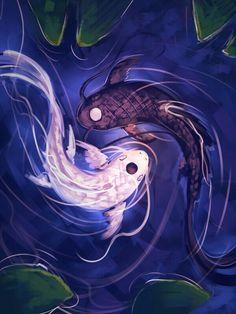 Avatar The Last Airbender Yin Yang Koi Fish Livelaughlove