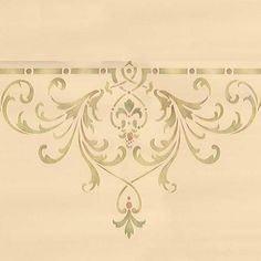 Ceiling Stencils | Hampton Center Ceiling Stencil | Royal Design Studio