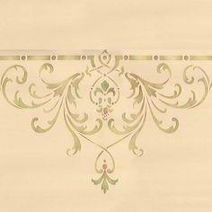 Ceiling Stencils | Hampton Center Ceiling Stencil | Royal Design Studio