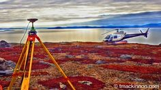 One of the Leica GPS units we used for a control survey during a recent job in Labrador. (Note: Used an HDR filter on the digital camera).