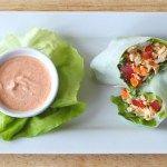 Thai Chicken Salad Spring Rolls